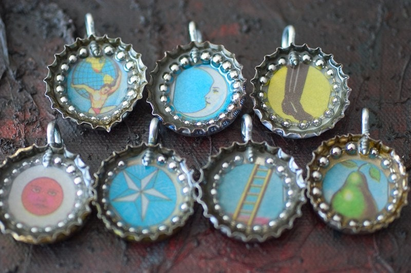 Single Loteria Mexican Bingo Game Pendants