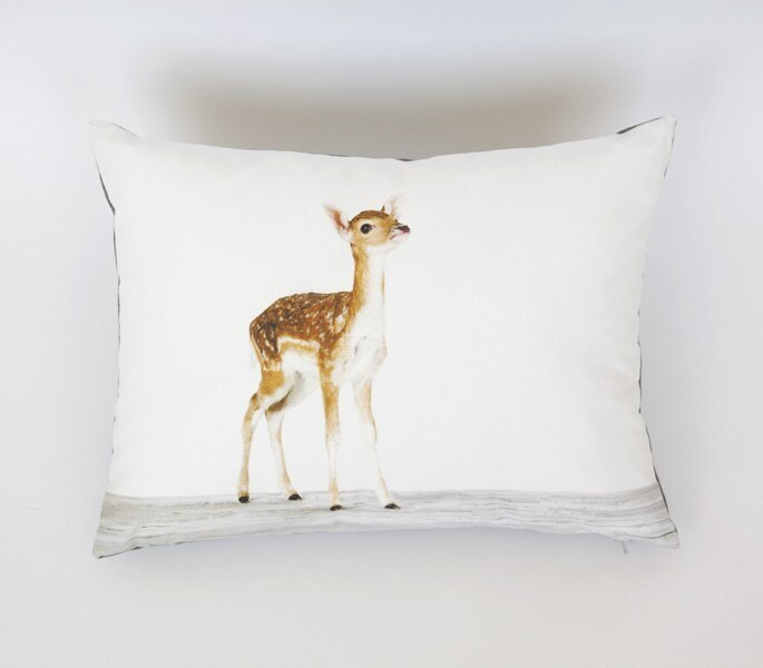 Baby Deer Pillow - Reserved for Kate.