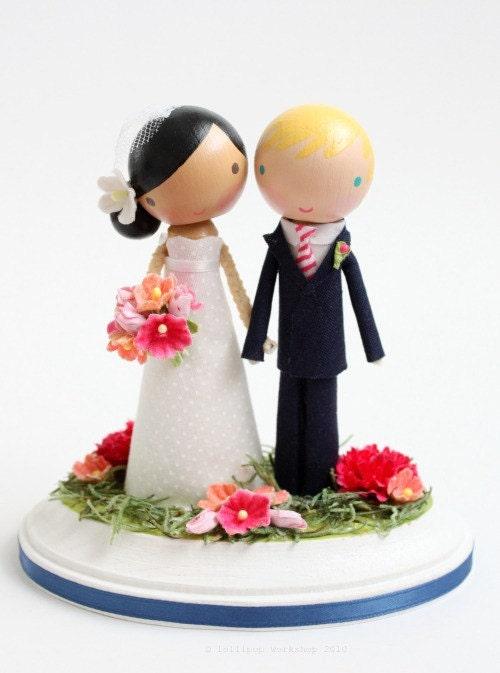 custom wedding cake topper - no arch