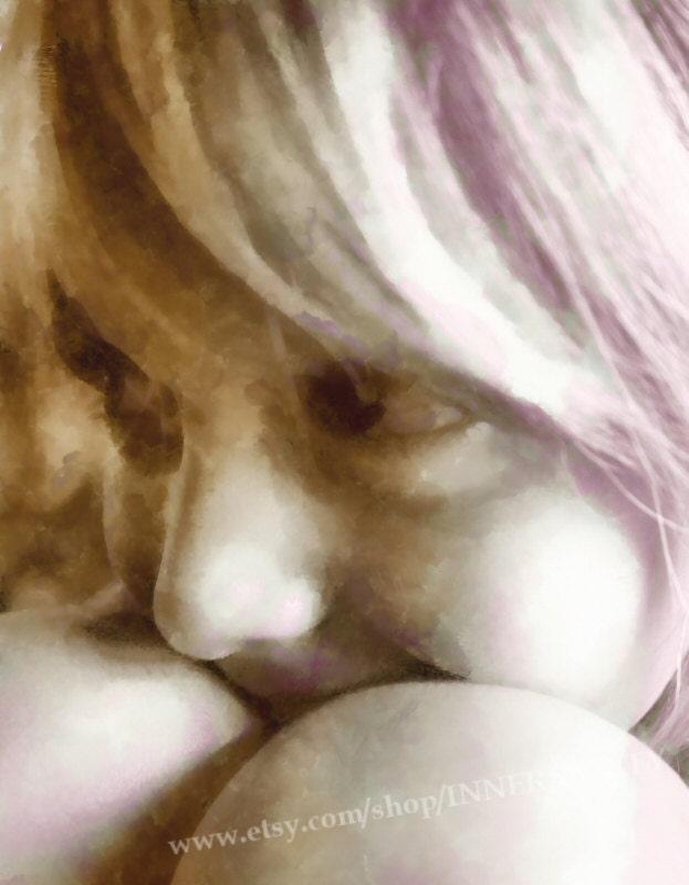 Innocence - Blonde Hair, Little Girl, Shy Girl, Beautiful Girl, Sepia, Portrait, Photography, 8x10 Fine Art Print - INNERSANITY