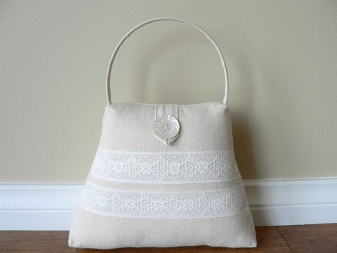 The Handbag Doorstop - Linen and lace