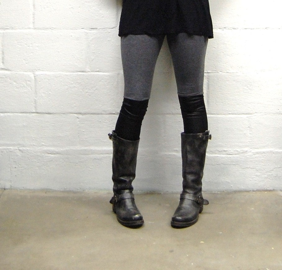 Leather Panelled Leggings