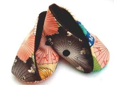 Chinese Fans Kimono Booties