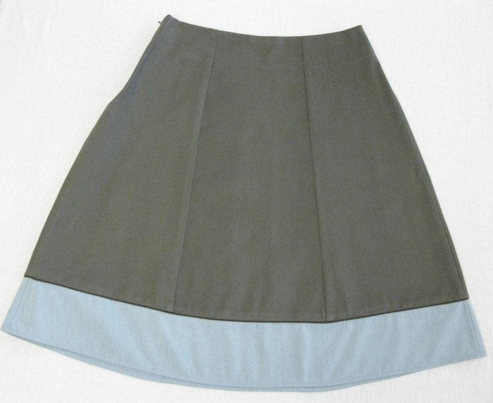 a-line 6 paneled skirt