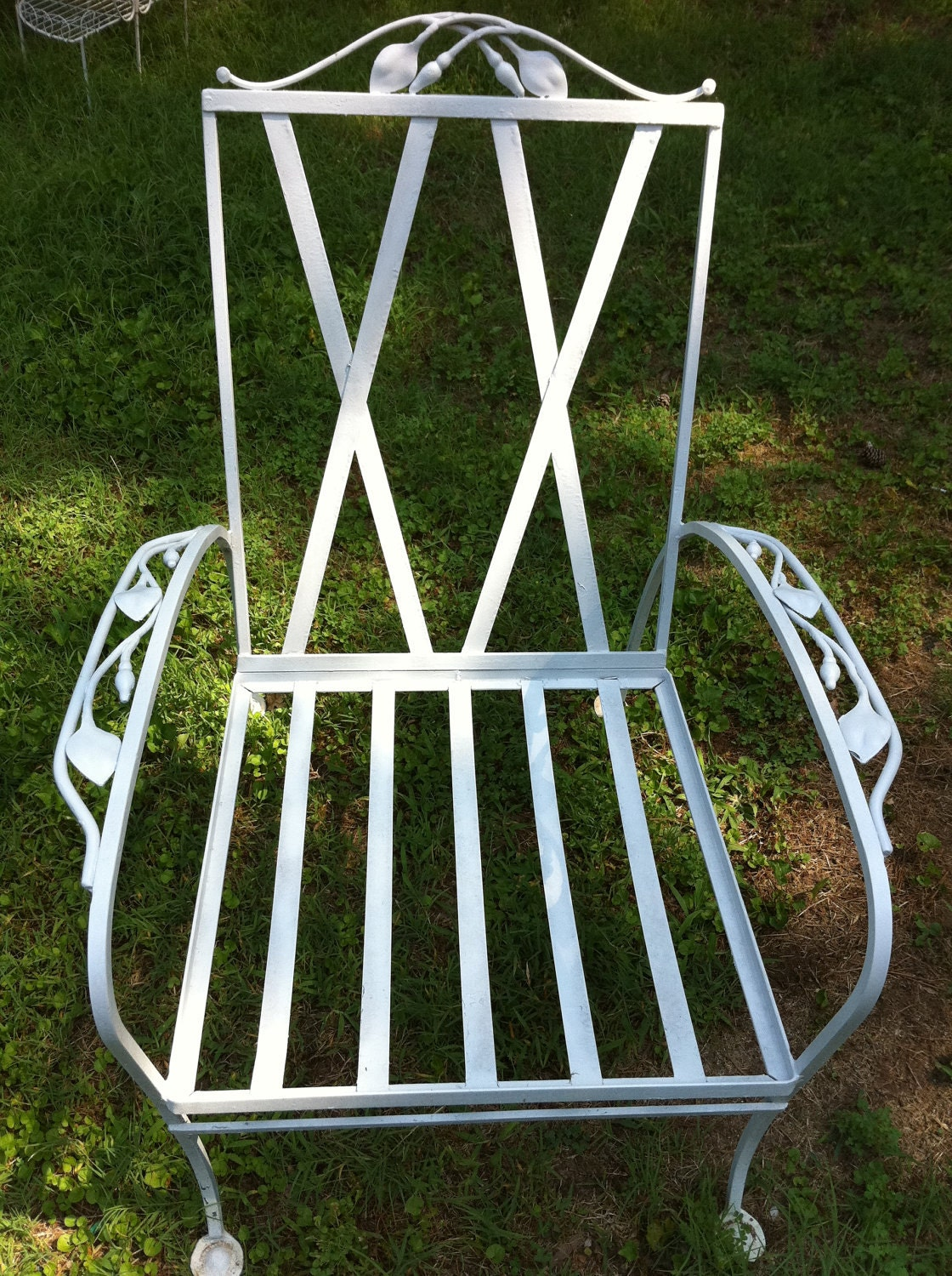Superb Excellent Sale Vintage Wrought Iron Patio Chair By Lotusjrk On Etsy With Vintage  Wrought Iron Garden Furniture