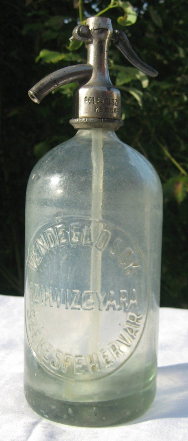 Vintage Hungarian Soda/Seltzer Bottle