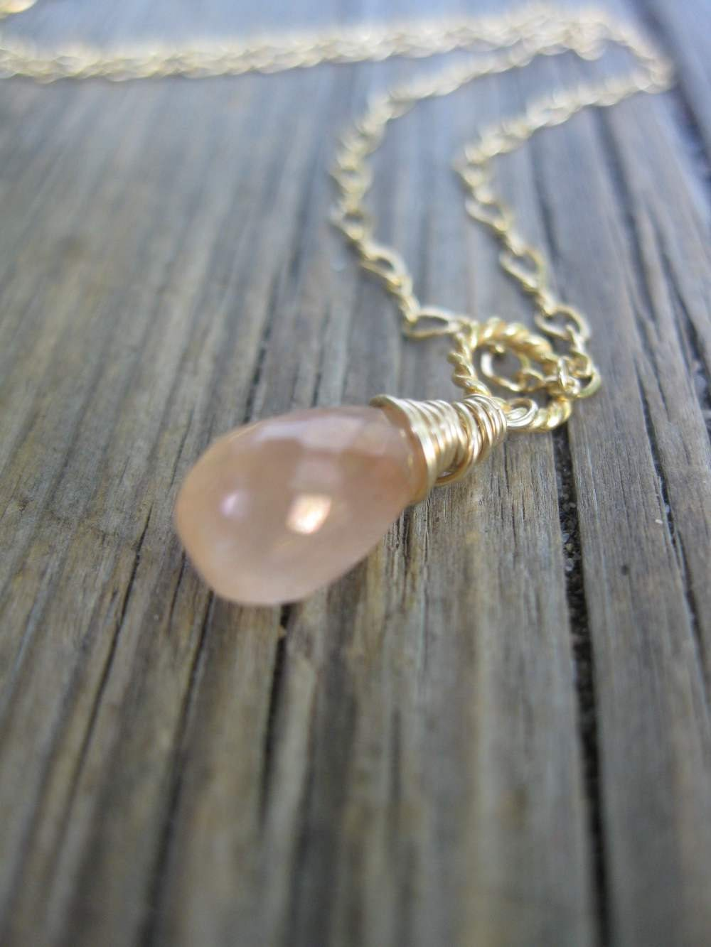 Tanzarine Quartz Necklace on Gold Filled Chain