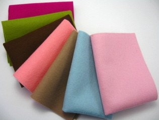 100 Percent Wool Felt Fabric, CUSTOM FOR SUGARBUFFET