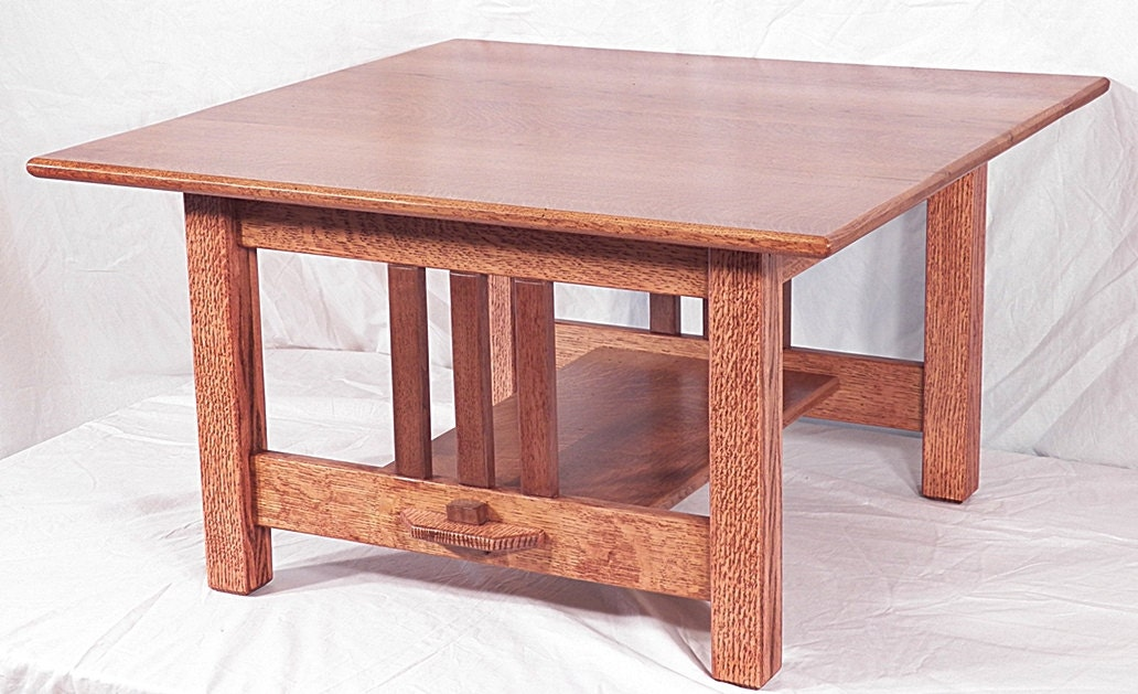 Mission Coffee Table Quarter Sawn Oak Walnut Made By Oacfurniture