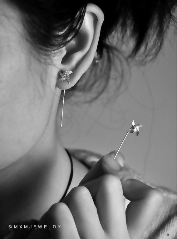 Tiny Pinwheel Earrings