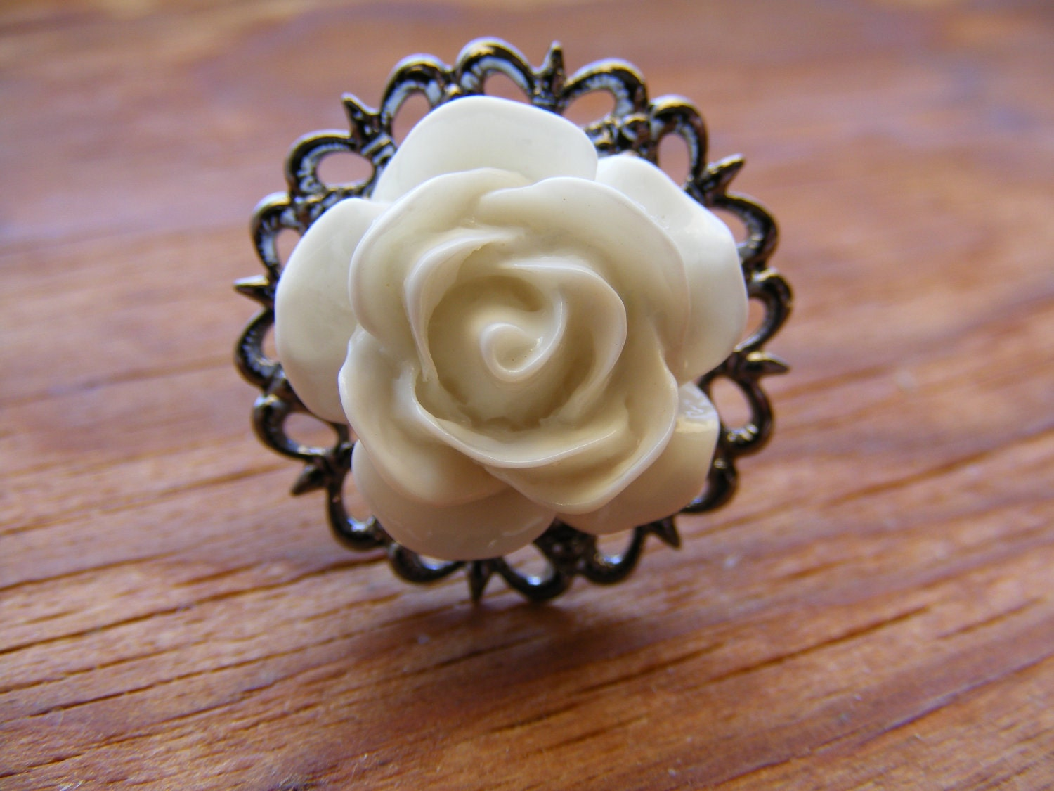 Bella Rose Filigree Ring
