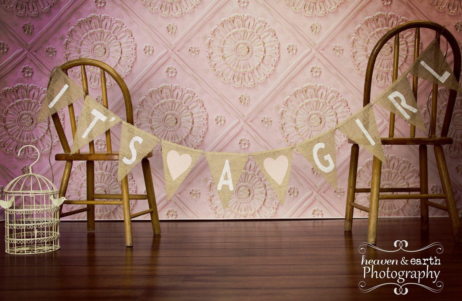 items similar to it 39 s a girl burlap banner baby shower decoration