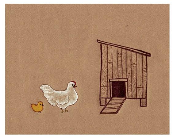 Spring Chicken Print