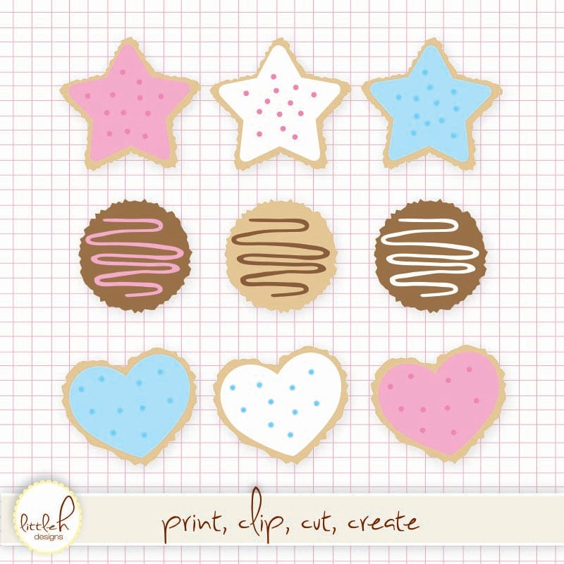 Sugar Cookies Clip Art - Digital F iles PNG and JPEG / Clipart ...