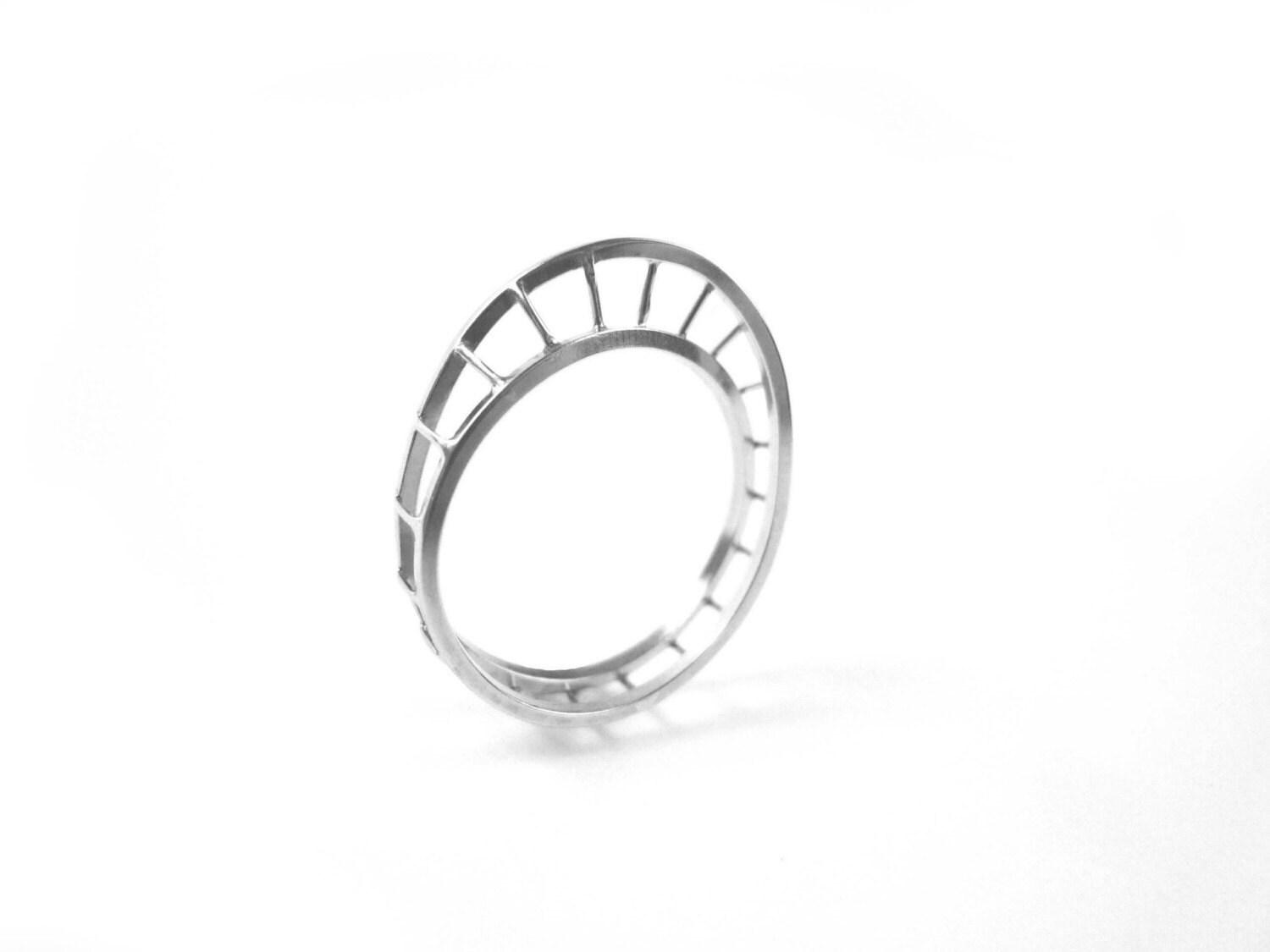 sterling silver unusual mobius ring - anniecracknell