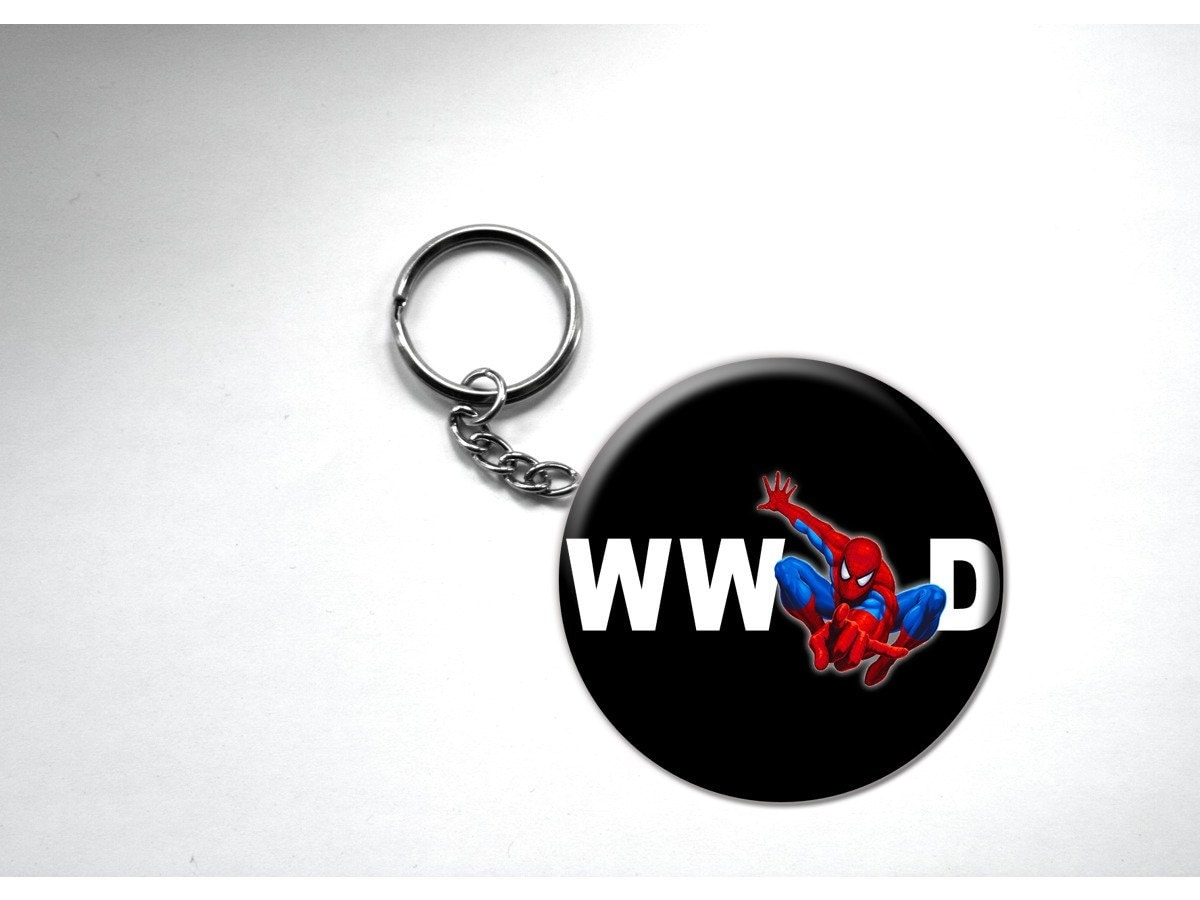 Spiderman What Would Do Keychain Spider Man