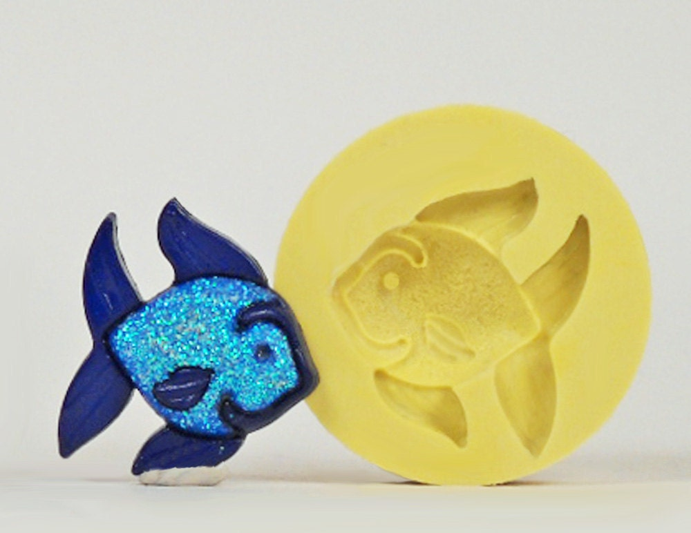 Fish ss155 flexible silicone mold crafts jewelry by moldshop for Silicone fish molds