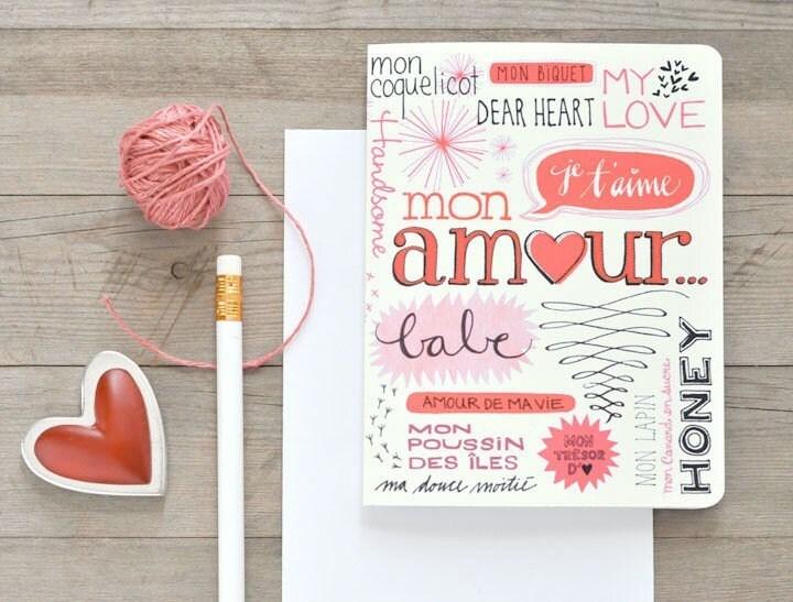 Bilingual Nickname Valentine card