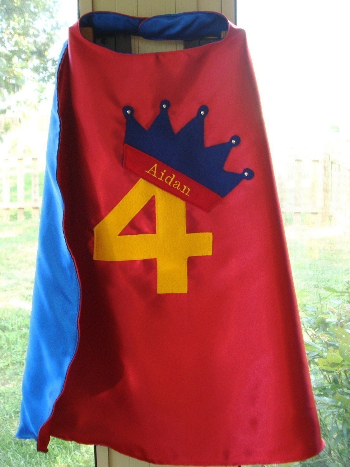 Custom Embroidered Birthday Cape