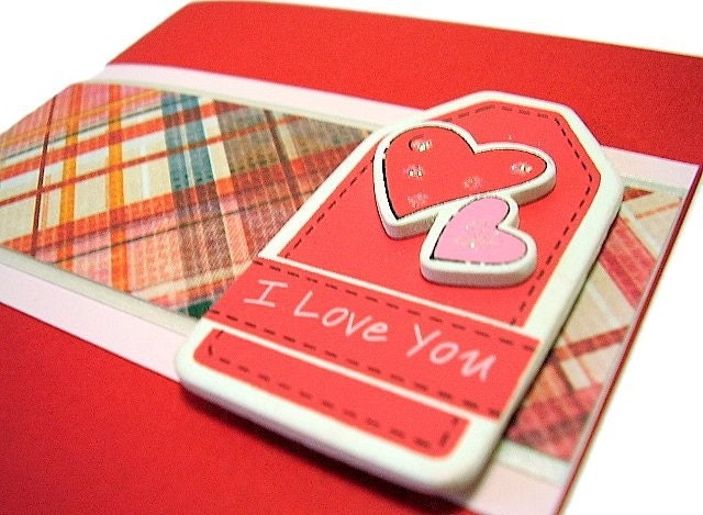 I Love You Handmade Card Code : VDay10. Love Happy Valentine's Day Handmade