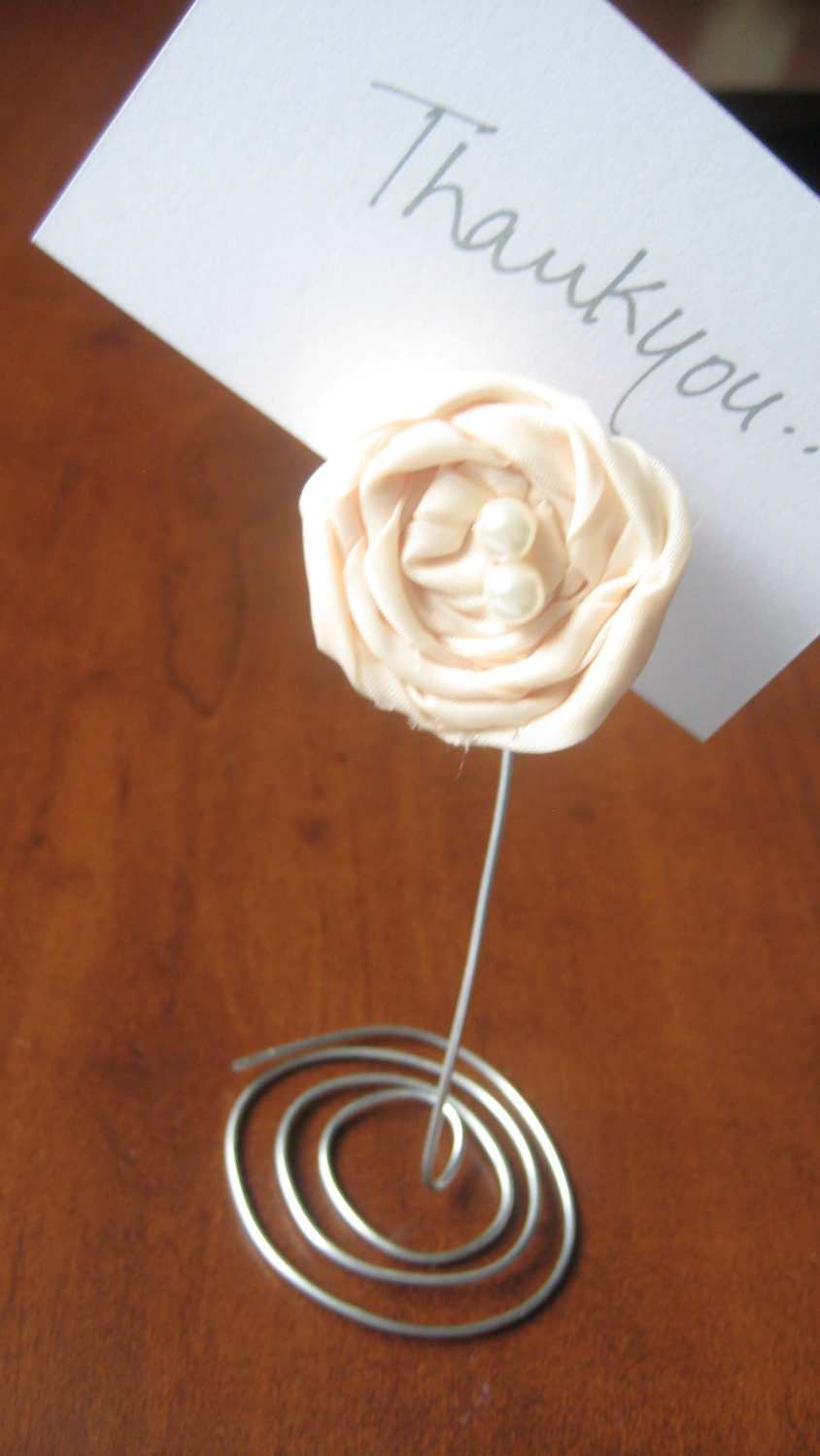 Items Similar To Reception Table Place Card Holders Wedding Favour On Etsy