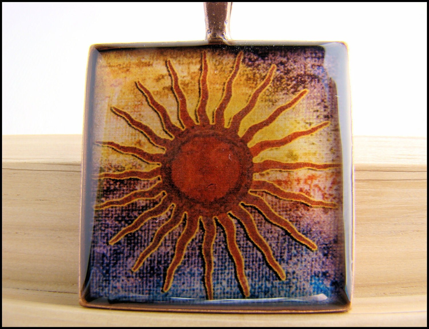 Resin Pendant, Primitive Sun