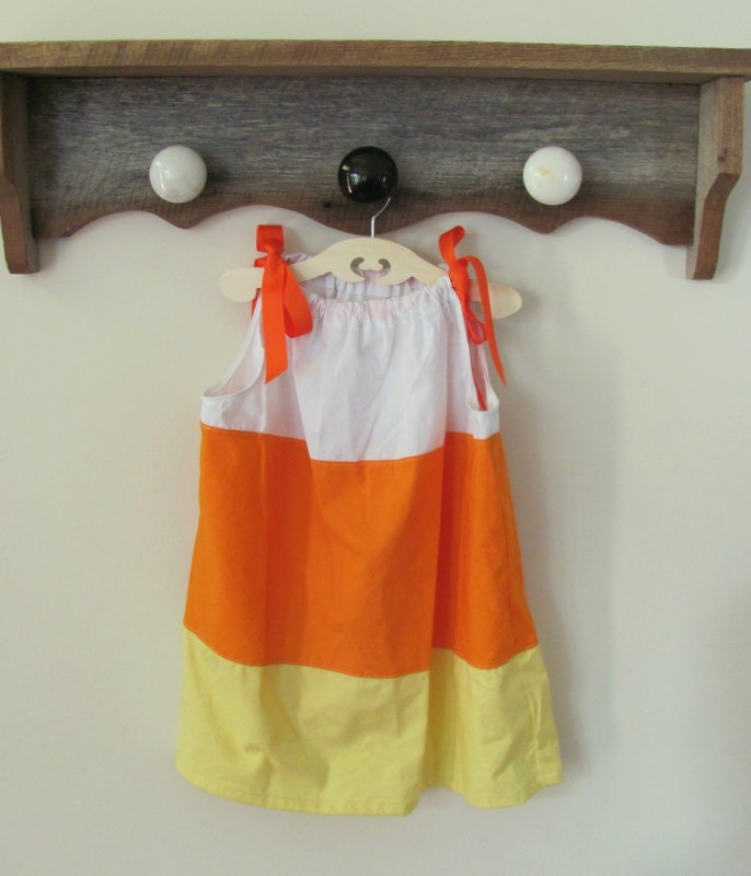 Custom Candy Corn Pillow Case Dress - BartleyDannanDesigns