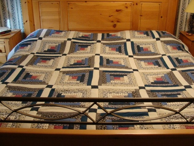 Log cabin trails king/queen quilt