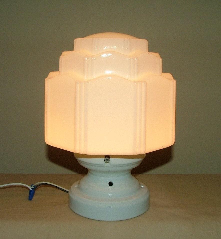 Antique Porcelain Ceiling Light Fixture Milk Glass By