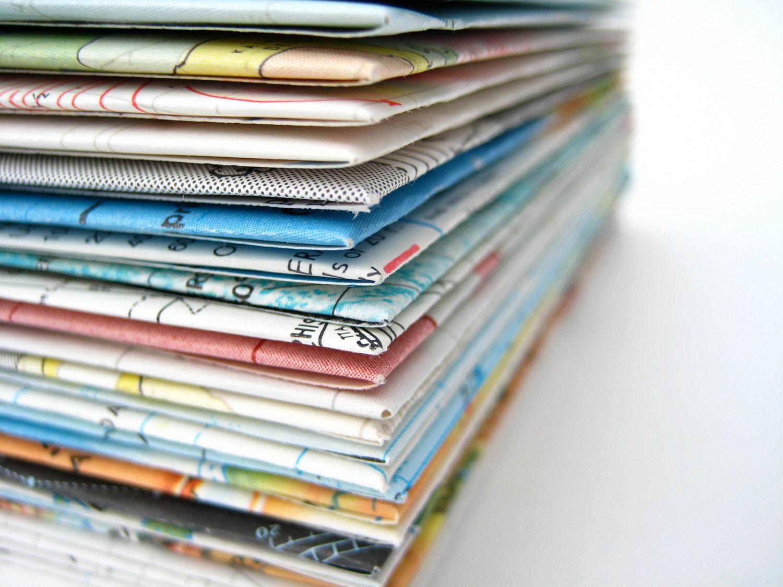 Assorted Vintage Map Envelopes - 10