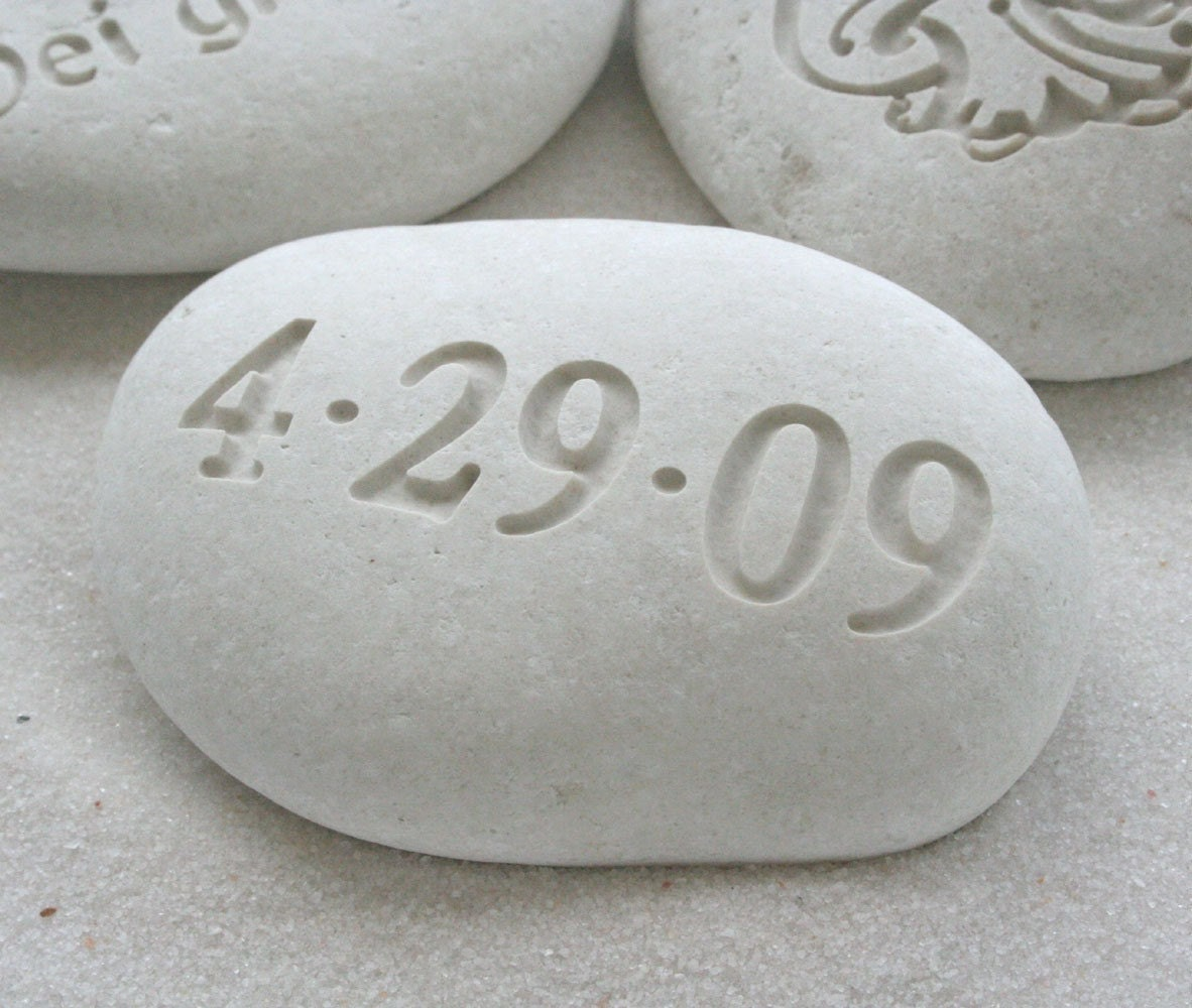 White Beach Pebbles - Custom engraving with your text or graphic