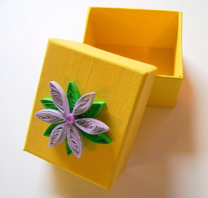 Golden and Purple Keepsake Box