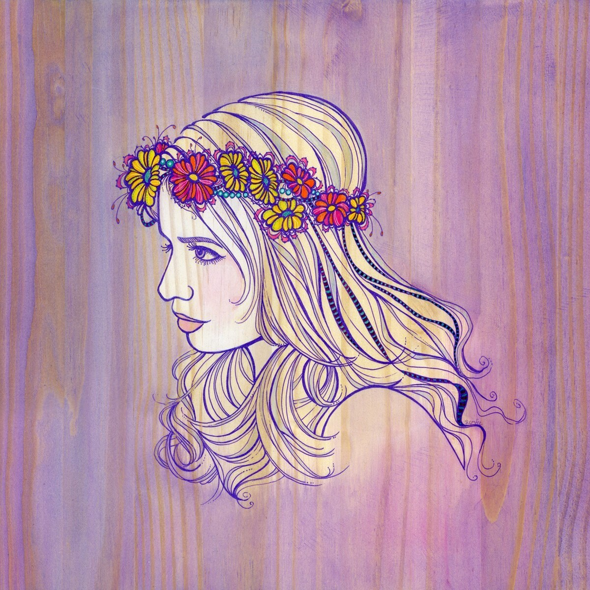Violet Woodgrain profile - PRINT