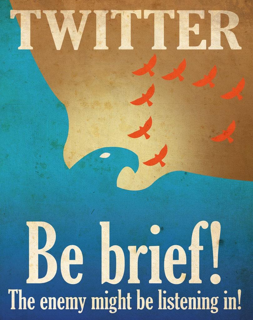 Social Media Propaganda Poster