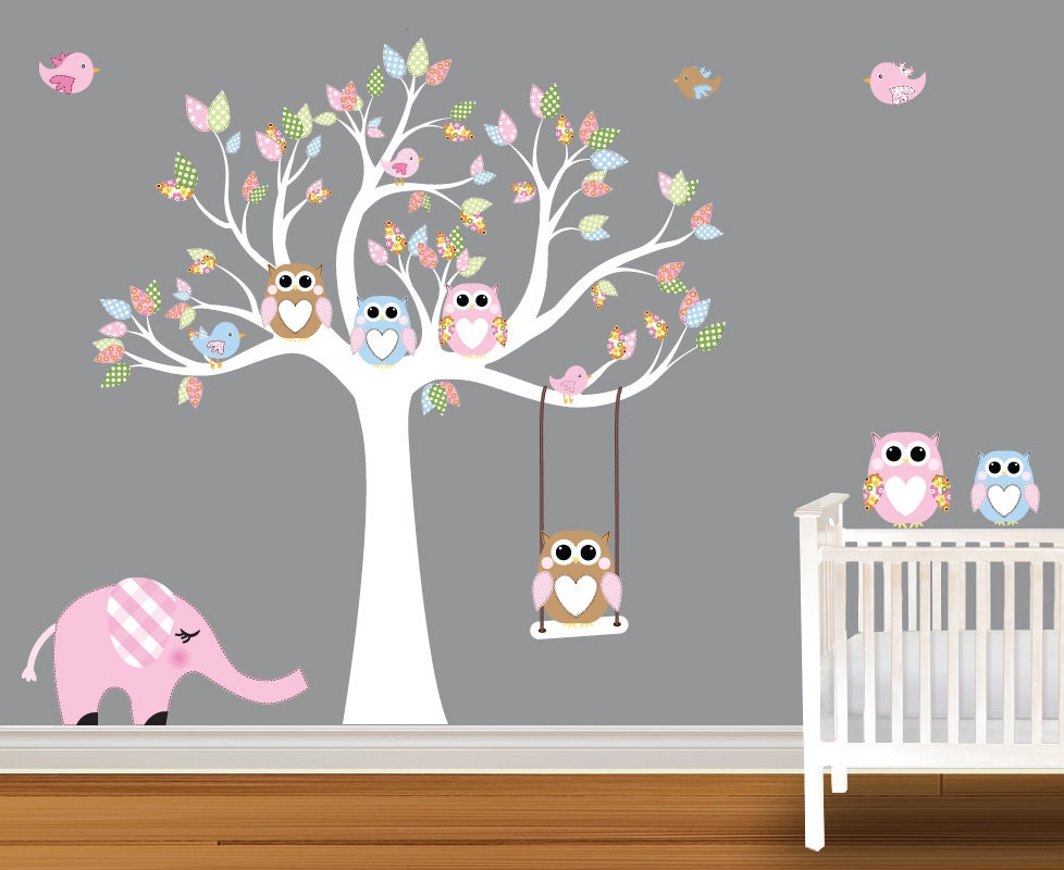 Popular items for wall tree decals nursery on Etsy