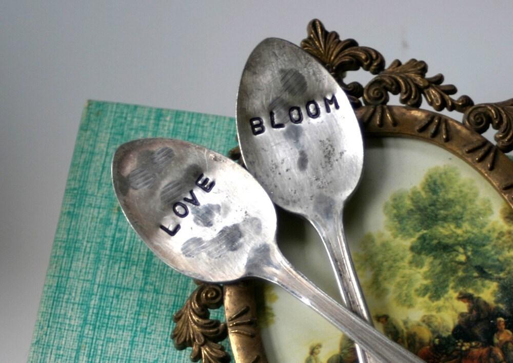 Bloom and Love Vintage Silverware Garden Marker