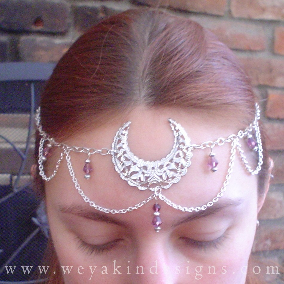 Purple Moon Goddess Circlet by Weyakin Designs
