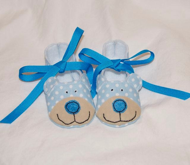 Baby Blue Bear Booties
