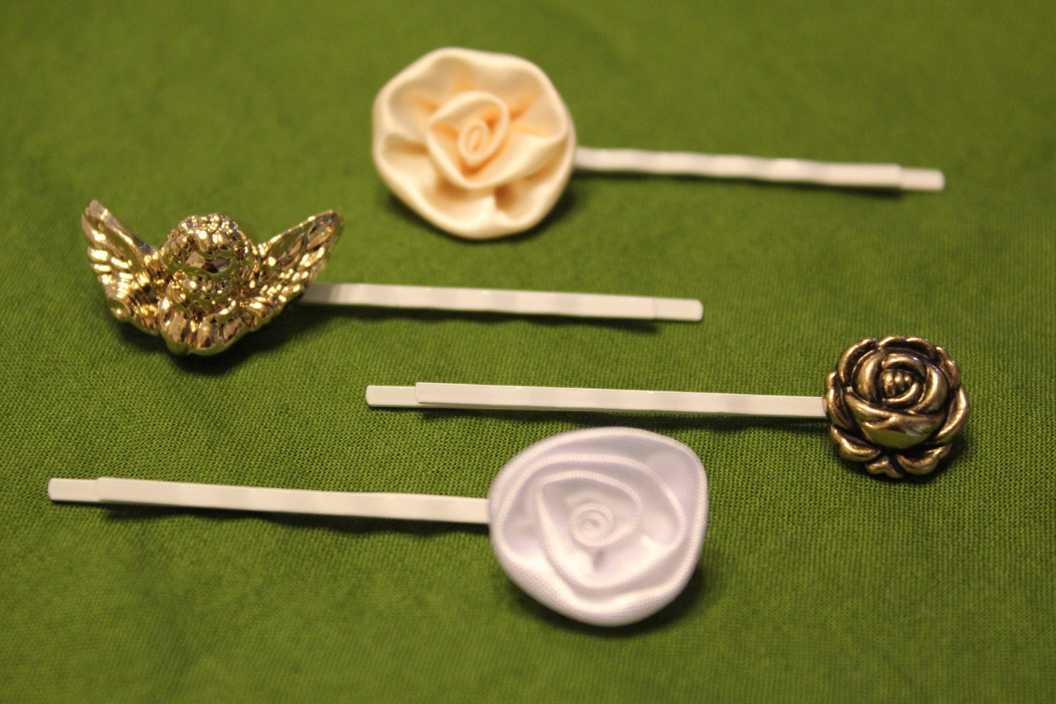 Set of 4 Charming Hair Pins