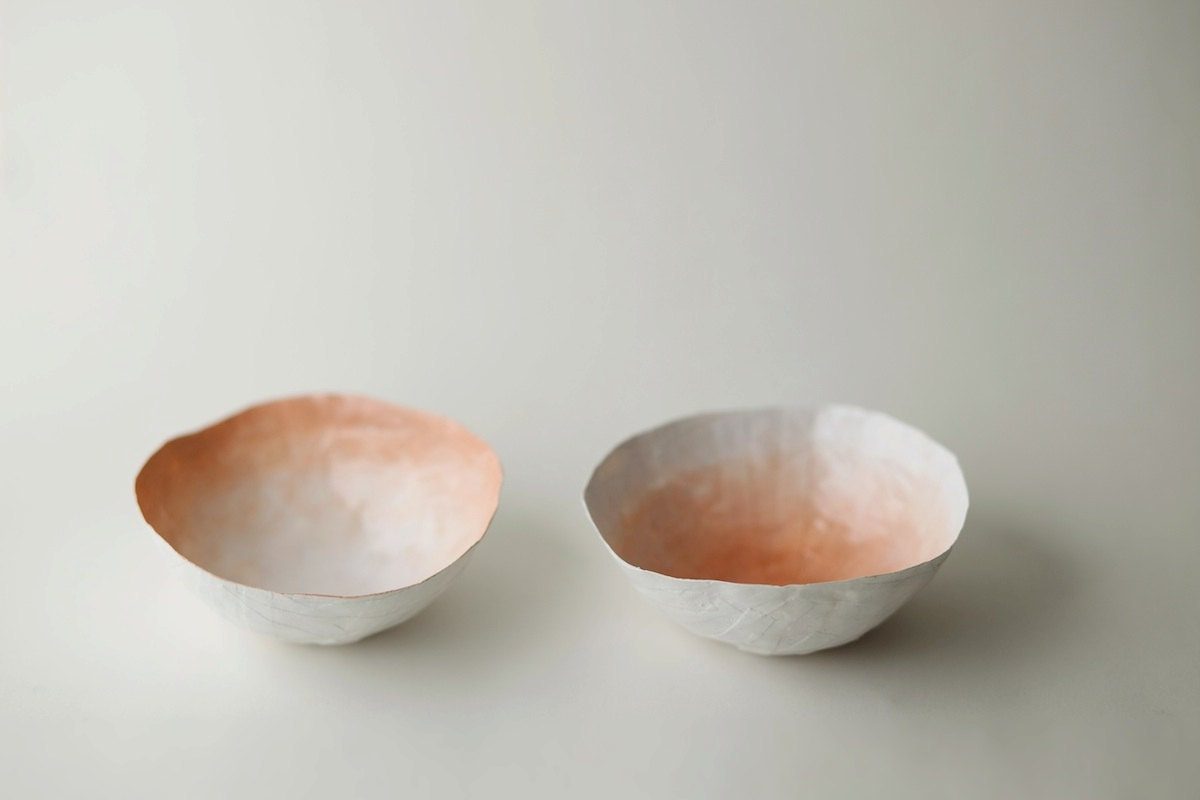 Small Peach Fade Bowl Set - upintheairsomewhere
