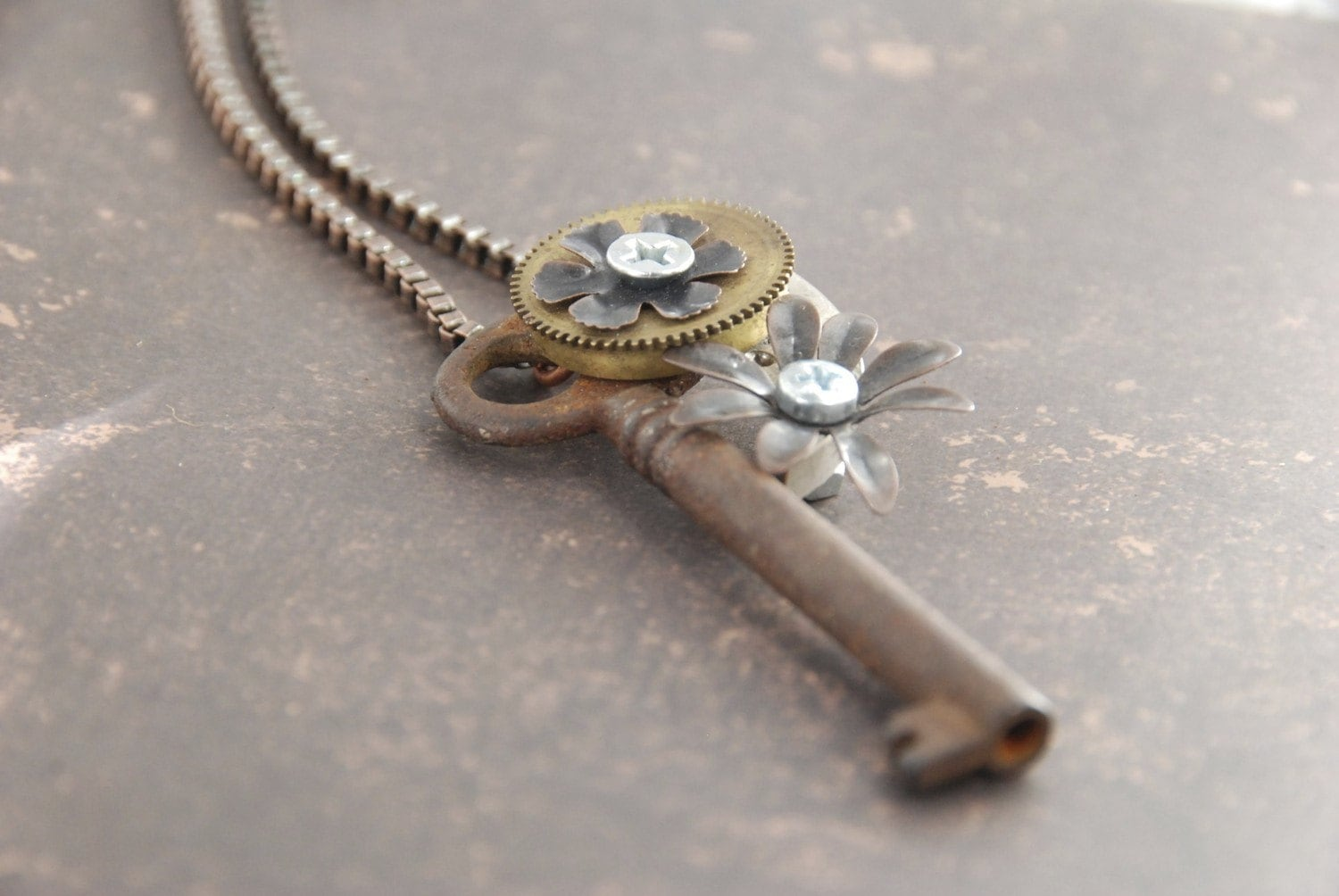 Time Key Antique Necklace