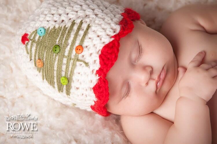 Free Crochet Patterns For Newborn Baby Girl Hats : Items similar to Crochet christmas hat- Newborn-Adult ...