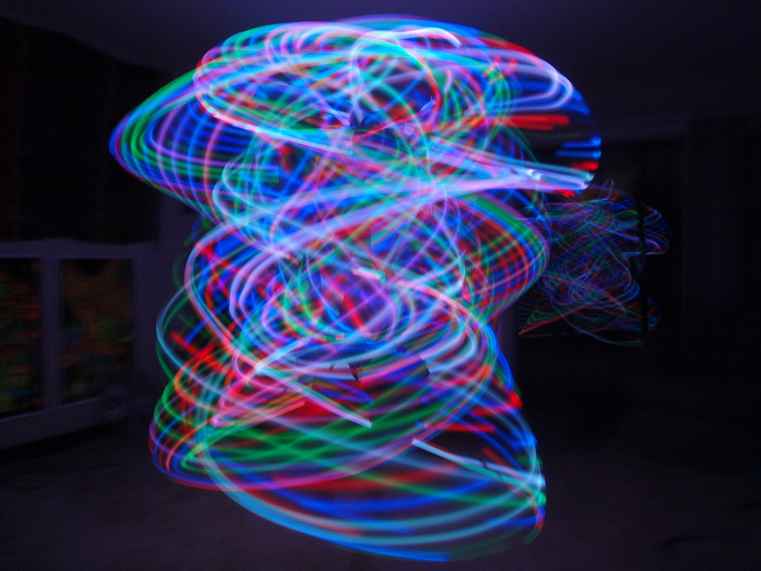 Custom RaiNBoW BLaST Collapsible and Rechargeable 15 LED Hoop