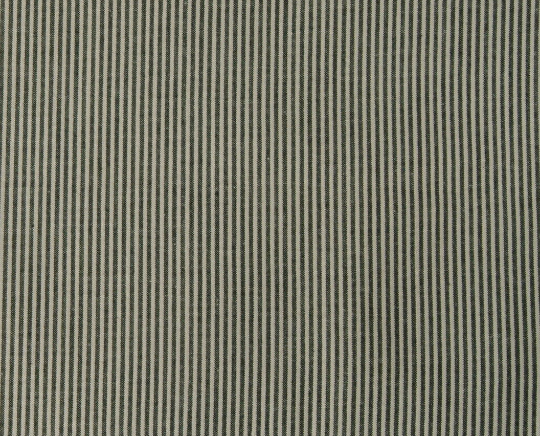 Vintage Cotton Fabric Striped Gray And White Ticking By