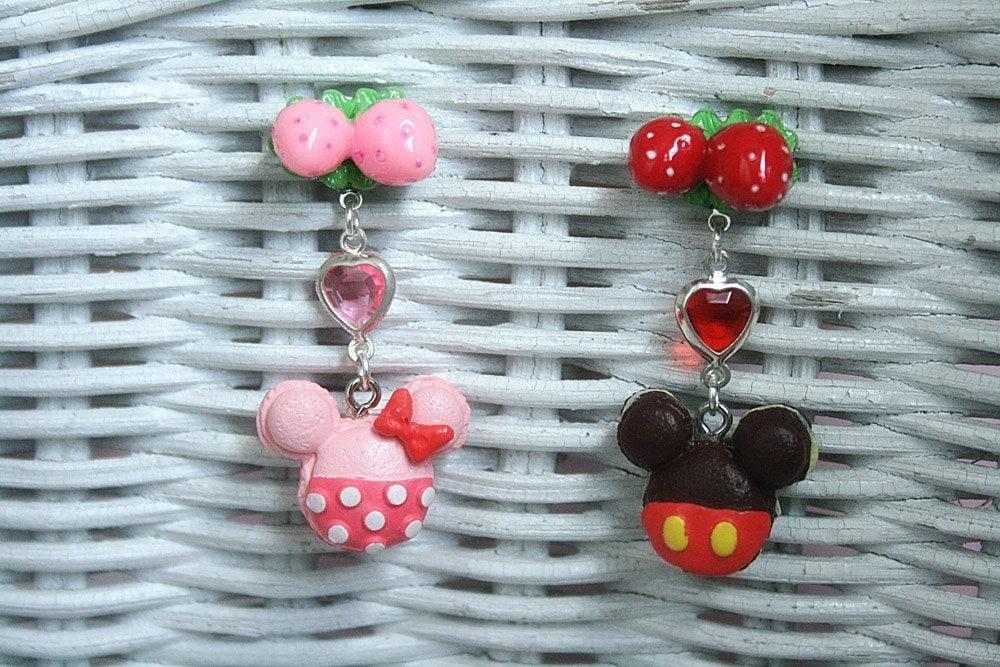 Mickey and Minnie Macaroons Earrings