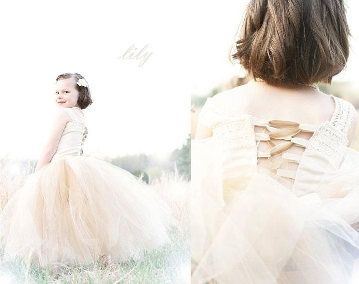 Post your flower girl dresses wedding tulle flowergirl dresses Il