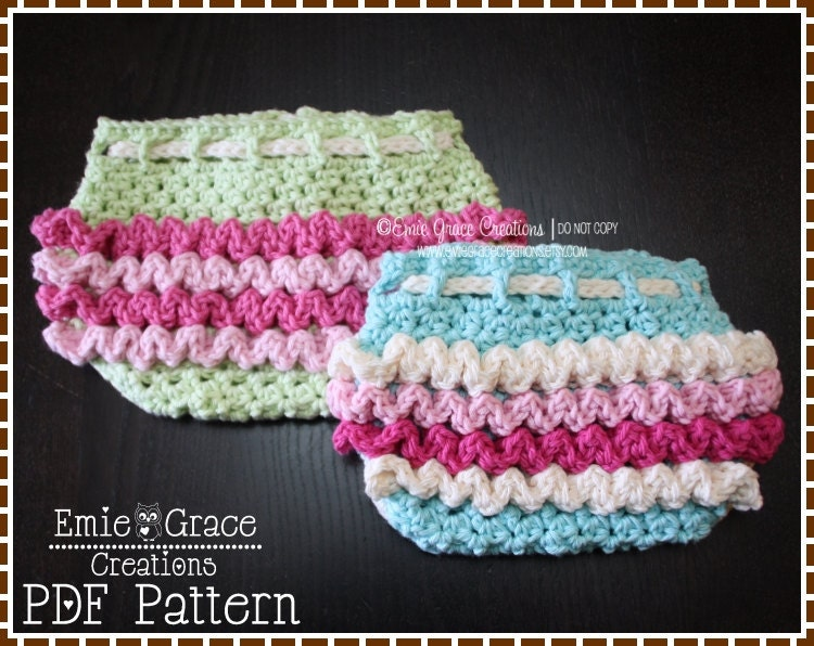 Free Printable Crochet Diaper Cover Pattern : Ruffled Diaper Cover Crochet Pattern Ruffle by ...