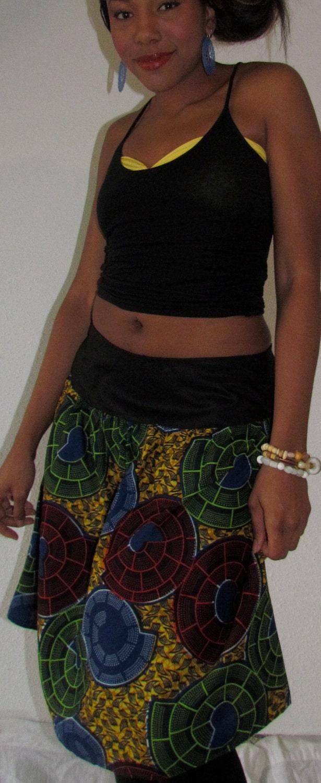 African Print Mix Skirt