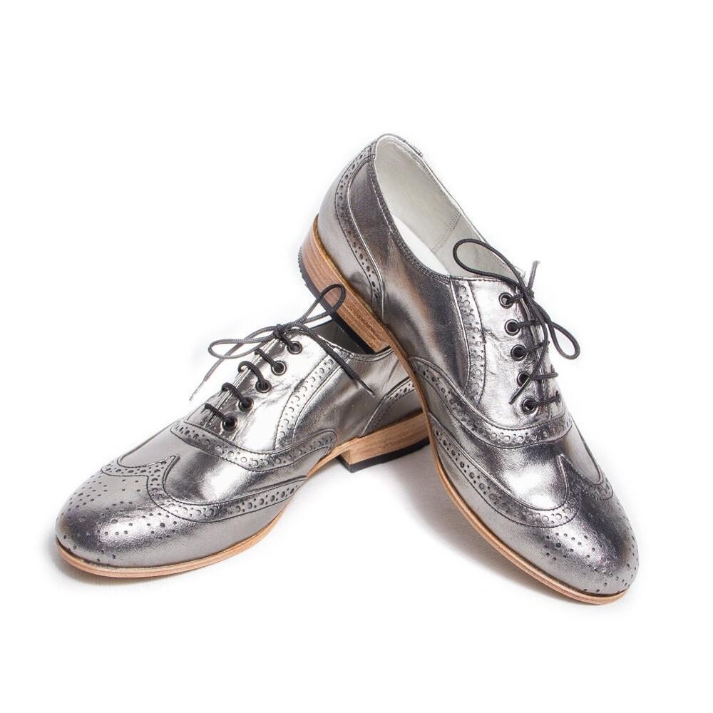 Silver Dress Shoes Size