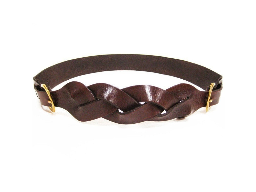The Braided 2-Piece Harness Belt in Bison Brown